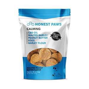 peanut butter flavored CBD dog treats from Honest Paws
