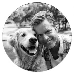 Blake Armstrong and his dog Rosie