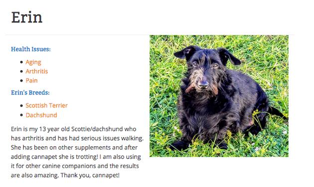 cbd testimonial about Canna Pet