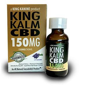 king kalm cbd 150 mg bottle