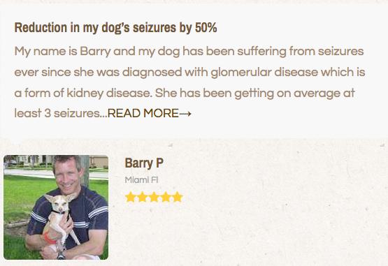 pet owner giving a cbd testimonial