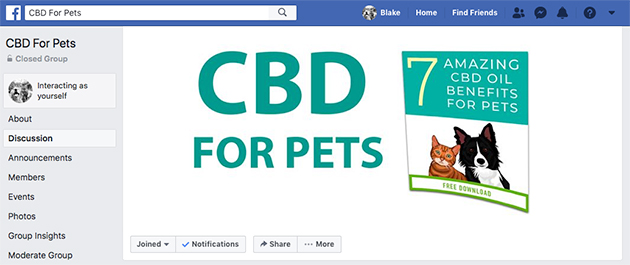cbd for pets facebook group cover photo