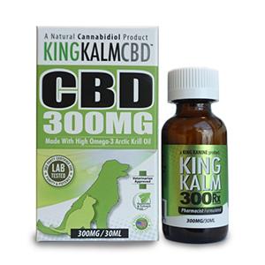 king kalm cbd 300 mg bottle