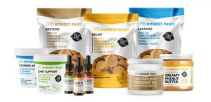 honest paws product display
